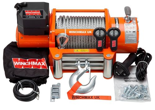 WINCHMAX - 17000 WIRE ROPE ELECTRIC WINCH -12V