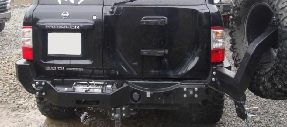 Heavy Duty Rear Winch Bumper With Tyre Carrier Nissan