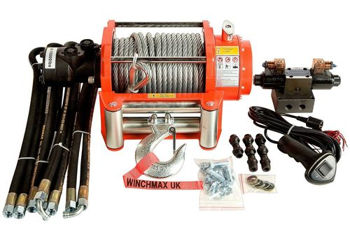 WINCHMAX - 15000 LB HYDRAULIC WINCH - WIRE ROPE