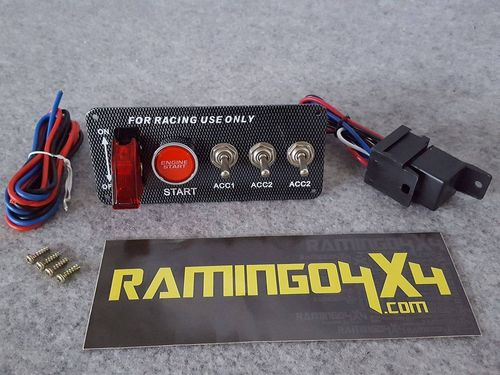 RAMINGO 4X4 - ENGINE STARTER PANEL + ACCESSORY SWITCHES
