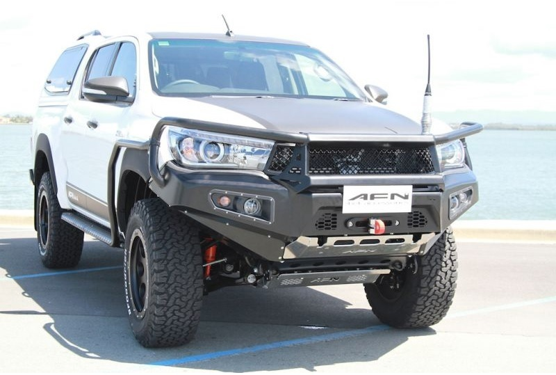 Afn Front Winch Bumper With Bullbar Toyota Hilux Revo