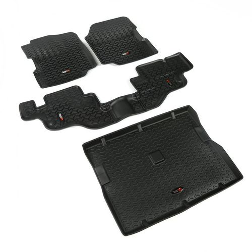 RUGGED RIDGE - KIT COMPLETO TAPPETINI GOMMA JEEP WRANGLER CJ/YJ