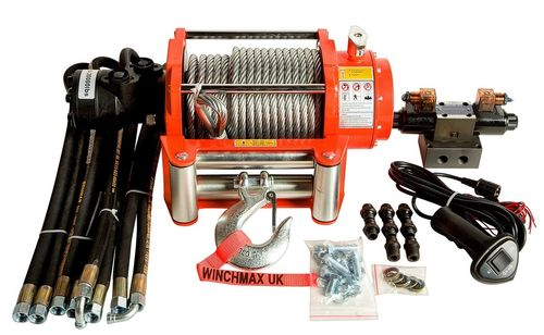 WINCHMAX - 20000 LB HYDRAULIC WINCH - WIRE ROPE