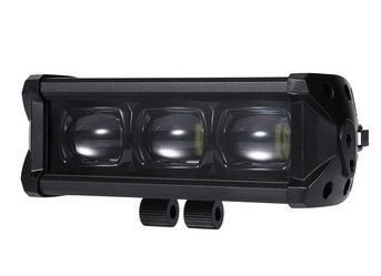 "BLACK LED BAR 6.6"" / 17 cm - 3 LED - 30W"