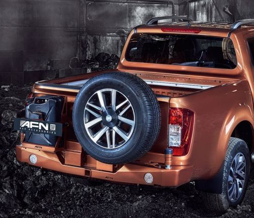 AFN - REAR BUMPER TYRE CARRIER AND JERRY CAN NISSAN NAVARA NP300 2015>
